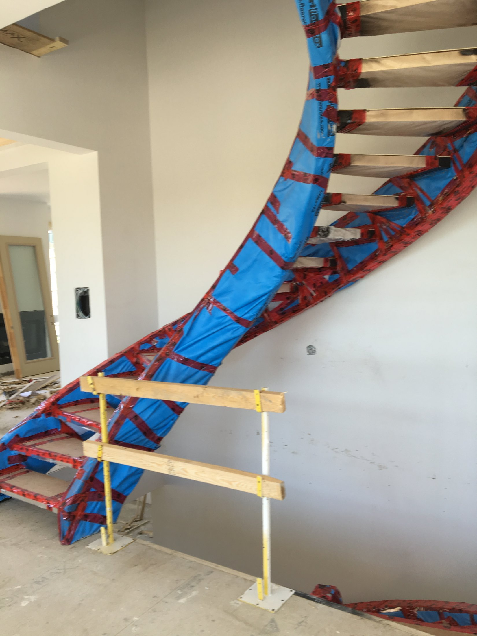 Curved Stair Installation #178