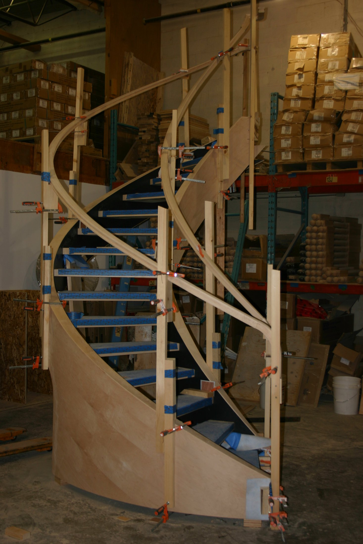 Curved Stair Construction #182