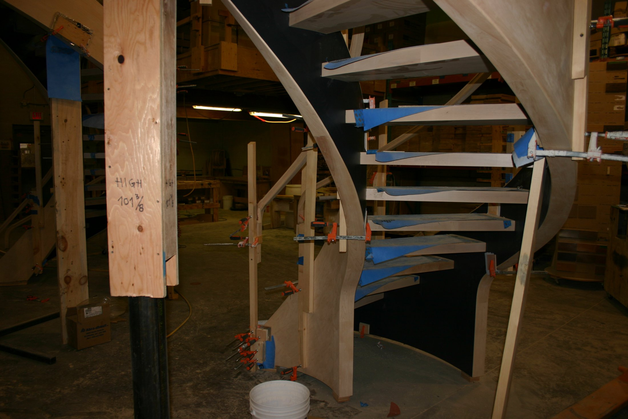 Curved Stair Fabrication #183