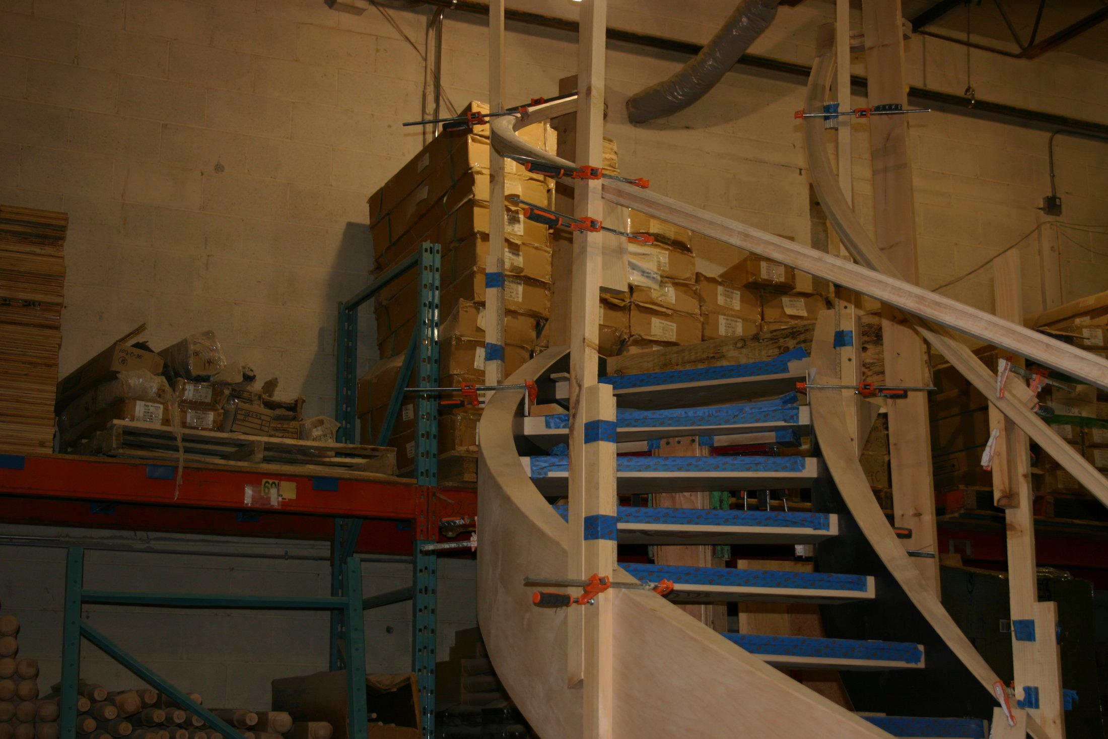 Curved Stair & Rail in Factory #184