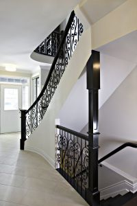 Curved Stair with Metal Panel #136