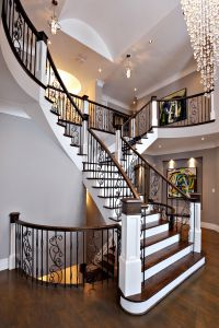 Custom Stairs with Metal Balusters #144