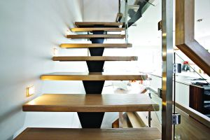 Straight Floating Stairs #125