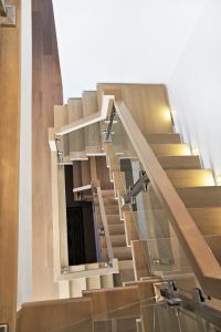 Staircase with Glass Panels #142