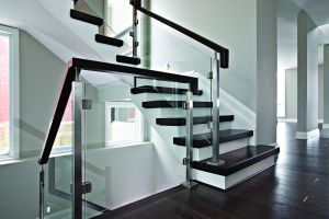 Glass Panels w/Straight Stairs #118