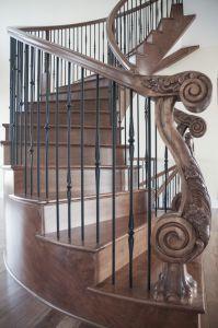 Custom Curved Stair #190