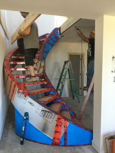 Curved Stair Installation #173